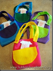 completed easter bags