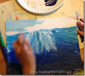 ocean acrylic painting