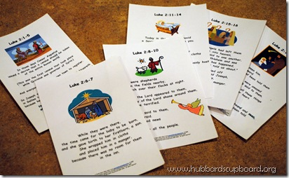 Luke 2 Scripture Cards