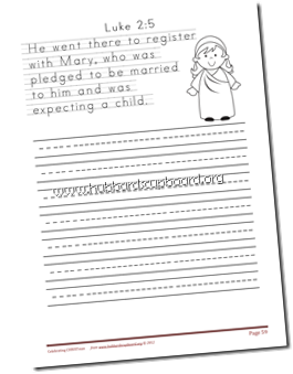 copywork sample- print