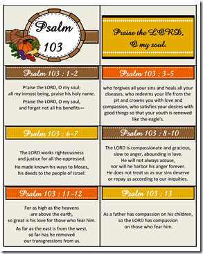 Psalm 103 memory cards