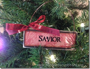 ornaments red ribbon