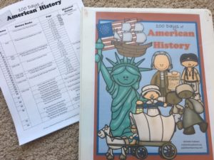 100 Days of American History Schedule and Notebook