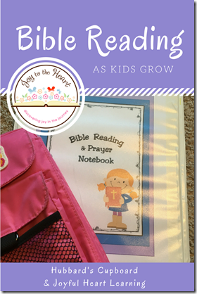 Bible Reading as Kids Grow