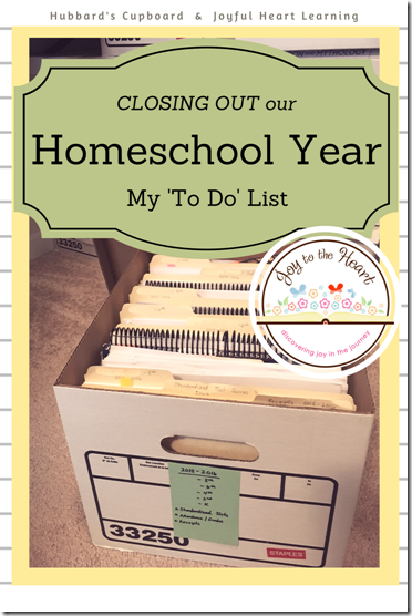 Closing Out Our Homeschool Year (1)