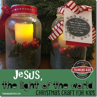 Jesus the Light of the World Christmas Craft for Kids SQ