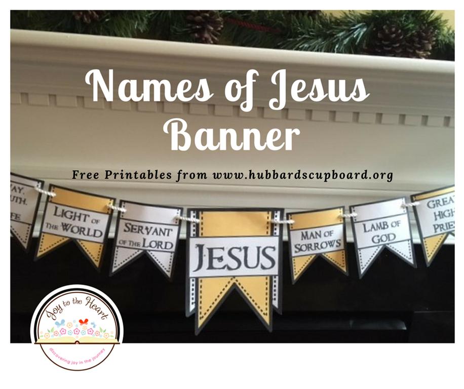 names of jesus banner