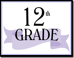 12th Grade Sign