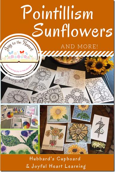 Pointillism Sunflowers
