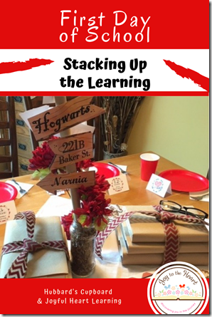 Stacking Up the Learning Themed 1st Day
